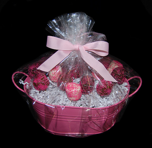 Pink Chocolate Dipped Marshmallow Bouquet Centerpiece
