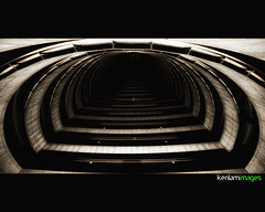 Tunnel to nowhere......... (Ken.Lam) Tags: urban abstract building japan architecture circle point concrete tokyo waves curves perspective crescent semi   unusual vanishing offices orton linear otemachi   urbannet distortation
