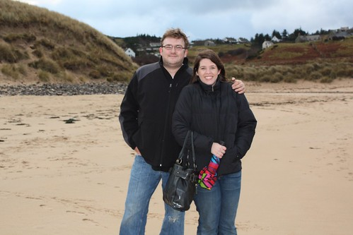 Dave & me on the beach