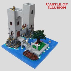 Castle of Illusion (2 Much Caffeine) Tags: castle lego opticalillusion moc escherish foitsop cccvii youreyesarenotgoingfunny