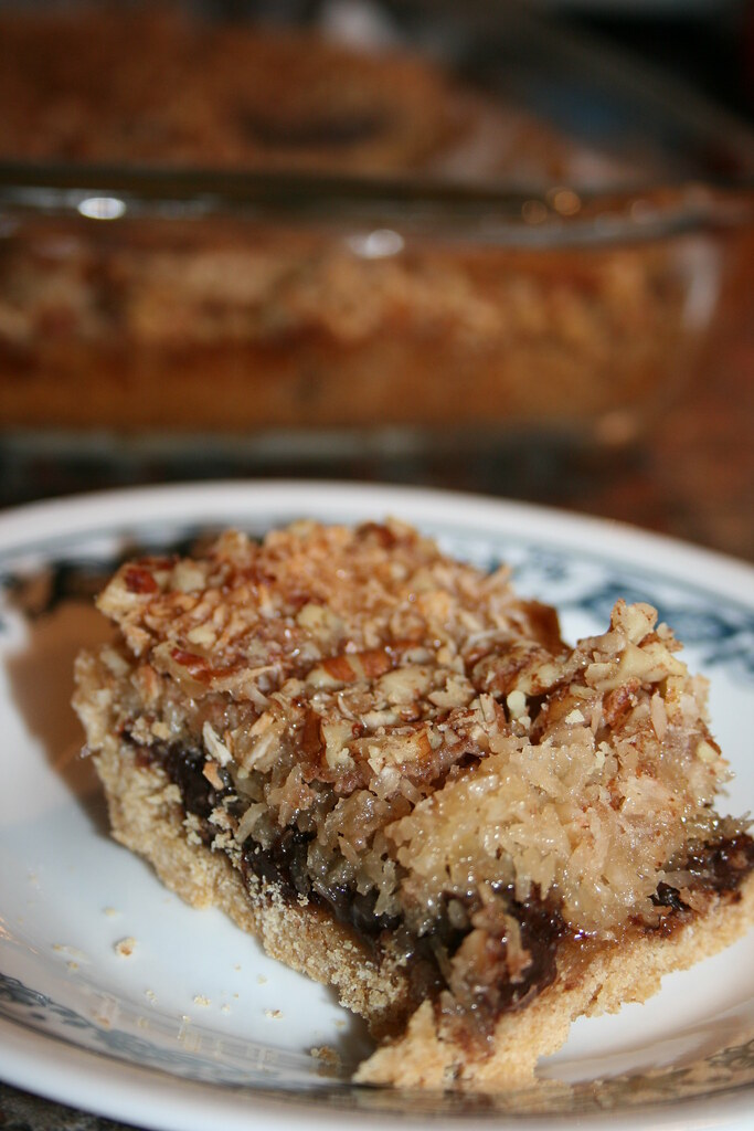 magical coconut cookie bars