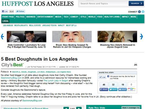 Gastronomy on Huffington Post