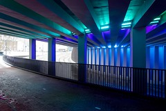 _DSC2667 (durr-architect) Tags: tunnel vision herman kuijer light installation dutch underpass zutphen netherlands architecture art designer artist colourful luminescent motorists cyclists pedestrians time space kcap baljon baauw royal haskoning dhv bam prorail train railway