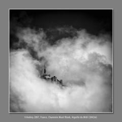 Aiguille du Midi (©Andrey) Tags: vacation mist mountain france alps fog clouds pentax du explore 400 midi chamonix vivitar 2007 aiguille explored 3842m k10d justpentax
