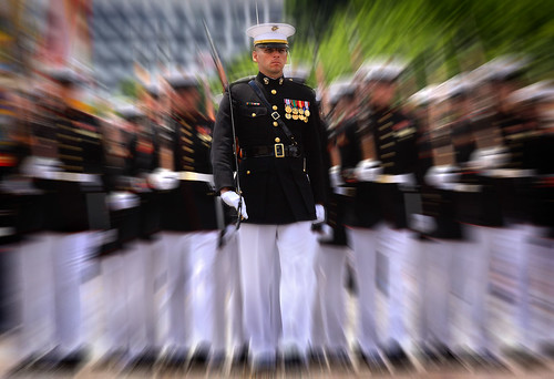marching Marines at the DC July 4th parade