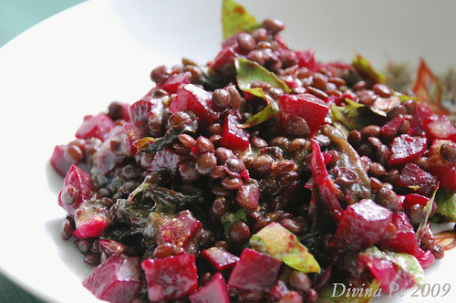 beets and lentils