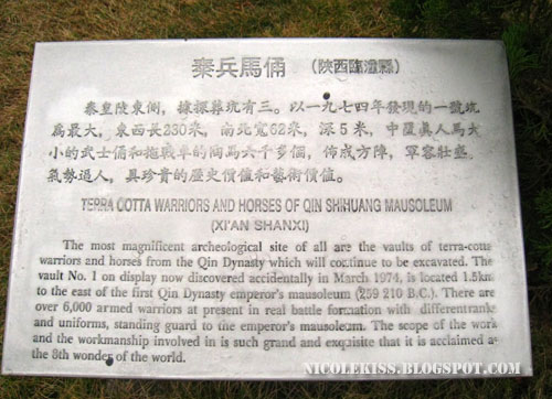 Terra Cotta Warriors and Horses sign