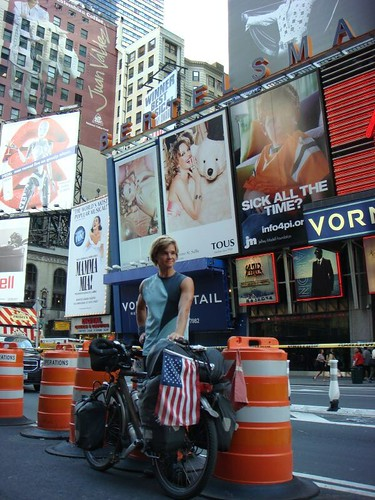 Nicolai at Times Square, Manhattan.