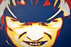 lance (carlos.guerrera) Tags: street blue red face june yellow azul wall canon painting rebel iso200 rojo rage vermelho amarillo amarelo lance biker 2009 determination xsi f63 guerrera lanceamstrong 1320sec carlosguerrera 47mm