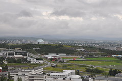 """""""The Pearl"""" seen from Hallgrims Church tower (jonathan_in_guelph) Tags: iceland thepearl reykjavik hallgrimschurch"""