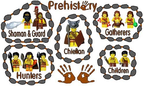 Prehistoric custom minifigs