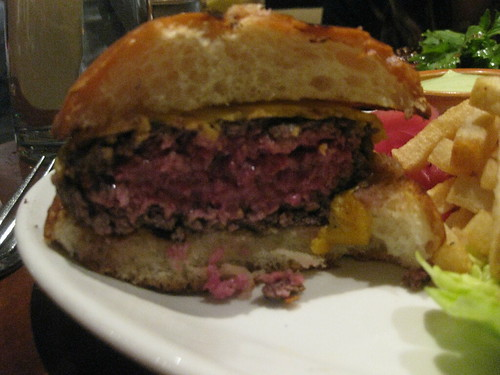 NOPA in San Francisco - Grass Fed burger, pickled onions and fries