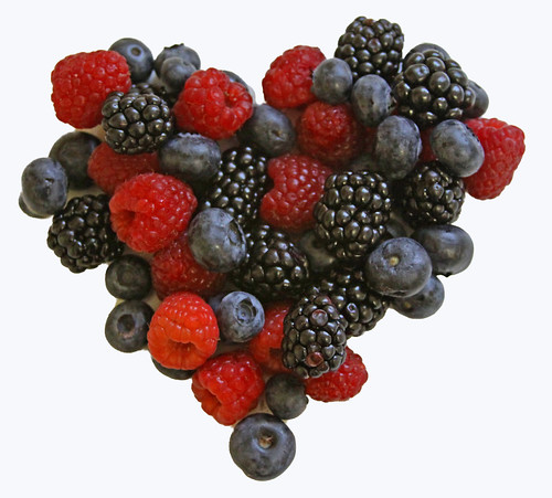 Berry Heart White Background