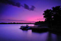 Las Palmas (Jim | jld3 photography) Tags: pink blue sunset moon lake ski water silhouette clouds evening twilight nikon long exposure dusk jet smooth calm palm explore deck horseshoebay 12mm frontpage tranquil d300 graniteshoals lakelbj