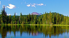 Sisters Mirror Lake (tallpaul34a) Tags: mountains oregon backpacking pacificcresttrail myoffice sisterswilderness