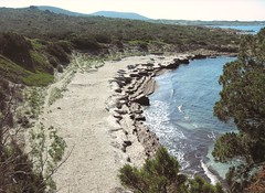 Première plage atteinte par le sentier littoral de Roccapina