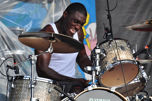 Cedric Burnside and Lightnin' Malcolm at Ottawa Bluesfest 2009