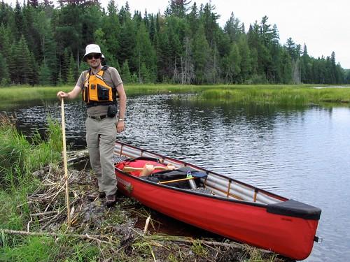 Ian at a beaver dam