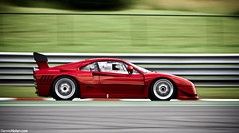 288 GTO Evoluzione. (Denniske) Tags: red motion car race speed canon de rouge eos is movement belgium belgique action belgi july ferrari 09 l gto mm dennis 13 panning circuit spa rood 13th rosso 70200 2009 f28 ef 07 evo 288 trackday f40 francorchamps rma noten lseries spafrancorchamps llens evoluzione rt trackdays 40d denniske dennisnotencom wwwdennisnotencom