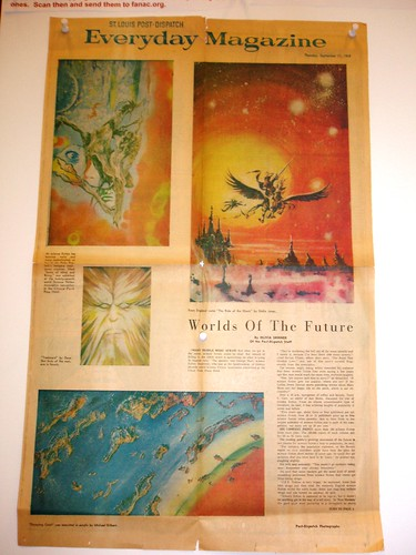 A vintage article about science fiction displayed at WorldCon 2009.