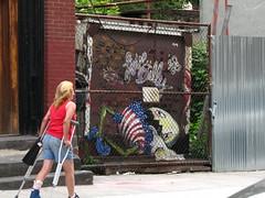 humpty fell! (superk8nyc) Tags: streetart ny love brooklyn billy humpty dumpty 2009