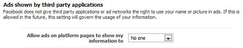 Facebook third party ad privacy settings