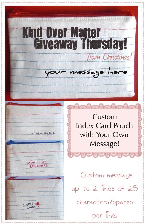 Kind Over Matter Giveaway Thursday!