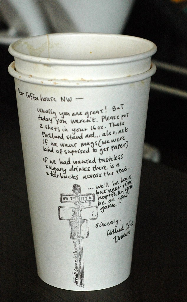 from the department of disgruntled baristas