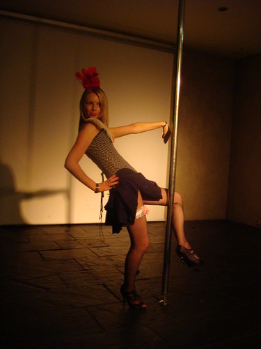 Lyndsay loves the pole
