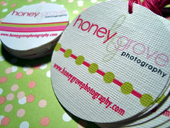 honey grove photography - hang tags & labels