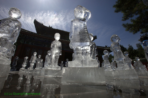 GREENPEACE ICE SCULPTURES IN BEIJING