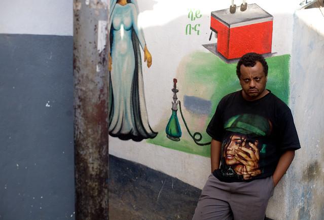 Michael Jackson in Ethiopia by Swiatoslaw Wojtkowiak