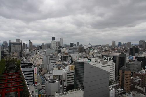 曇天の大阪