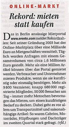 Berliner Zeitung - Rekord mieten statt kaufen by erentoFOTO