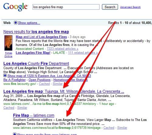 LA Times & Fire Maps