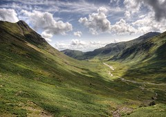 England: Cumbria - Langdale Fells and Mickleden Beck (Tim Blessed) Tags: uk sky mountains nature clouds landscapes countryside scenery hills cumbria valleys lakedistrictnationalpark superaplus aplusphoto singlerawtonemapped alemdagqualityonlyclub