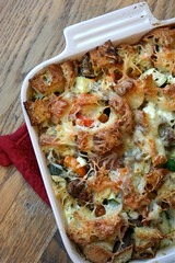 Sausage and summer veg strata