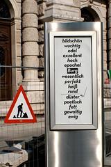 Bildschn usw. (austrianpsycho) Tags: vienna wien schilder baustelle schild rund perfekt burg fett heis edel hoch burgtheater dster wuchtig ewig gewaltig poetisch wesentlich epochal bildschn exzellent