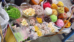 Thai Ice Mixed Sweet Dessert / -  (AmpamukA) Tags: food ice dessert mixed sweet several delicious thai multiple sweety aroi kanom     ampamuka