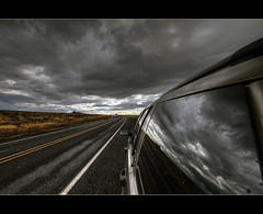 Into the Storm (David Gn Photography) Tags: storm reflection rain clouds centraloregon landscape driving jeep roadtrip journey pacificnorthwest hdr cascademountains 3xp photomatic flickrestrellas sigma1020mmf35exdchsm canoneosrebelt1i