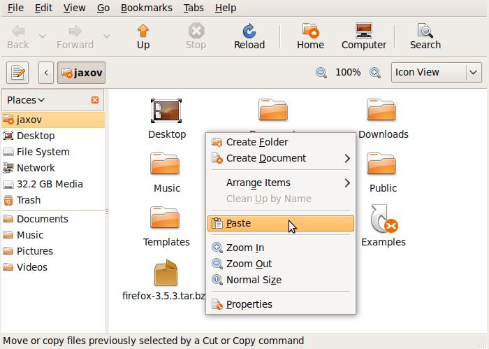 Paste Firefox-3.5.3.tar.bz2