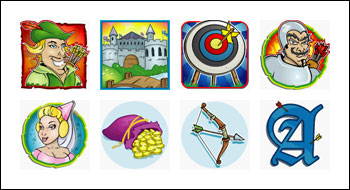 free Prince of Sherwood slot game symbols
