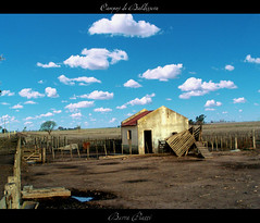 Casa de Campo (DiEgo bErrA) Tags: house field wall clouds casa earth nubes land campo abandonment tierra abandono terreno cerco colorphotoaward