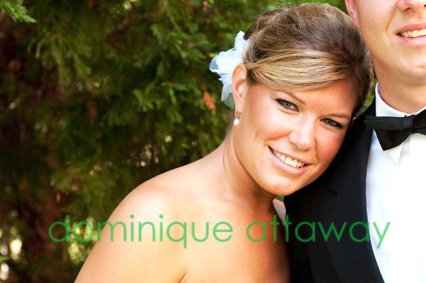 bride close up