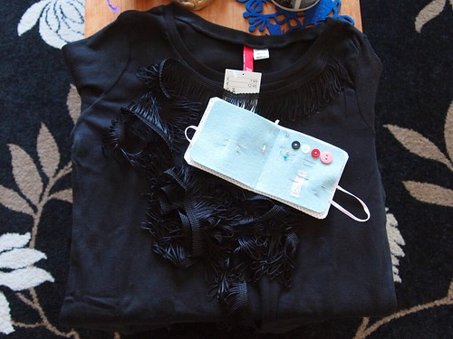 DIY fringed top