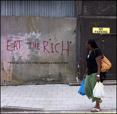 Banksy - Eat The Rich, Deptford (artofthestate) Tags: banksy deptford eattherich
