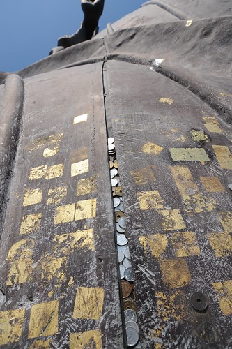 Coins pasted to Daibutsu