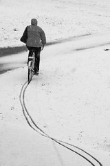 Cycling on the first snow