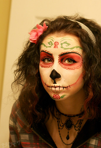 Sugar Skull Face Paint by Bi0star