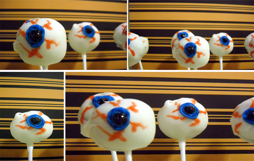 my little pony cake pops. Eye Ball Cake Pops